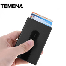Buy Temena Men Stainless Steel Aluminium Bank Card Holder Women Metal Case Men Business Credit Blocking Protector Organizer ACH221 for $4.50 in AliExpress store