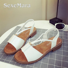 SexeMara Brand Summer Women sandals High Quality Special offer for Personality Fashion Girls Adjustable elastic 3 colors 35-40