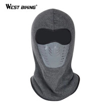 WEST BIKING Winter Dust-proof Cycling Face Mask Fleece Warm Windproof Ski Mask Snowboard Hood Bike Thermal Balaclavas Face Mask(China)