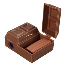 2 Pcs 2017 Lovely Creative Chocolate Plastic Pencil Sharpener With Eraser For Kids School Supplies Korean Stationery