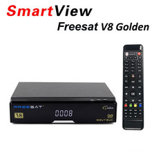[Genuine] V8 Golden DVB-S2 + DVB-T2 + DVB-C Satellite TV Combo Receiver Support PowerVu Newcamd better than Openbox v8 pro combo(China)