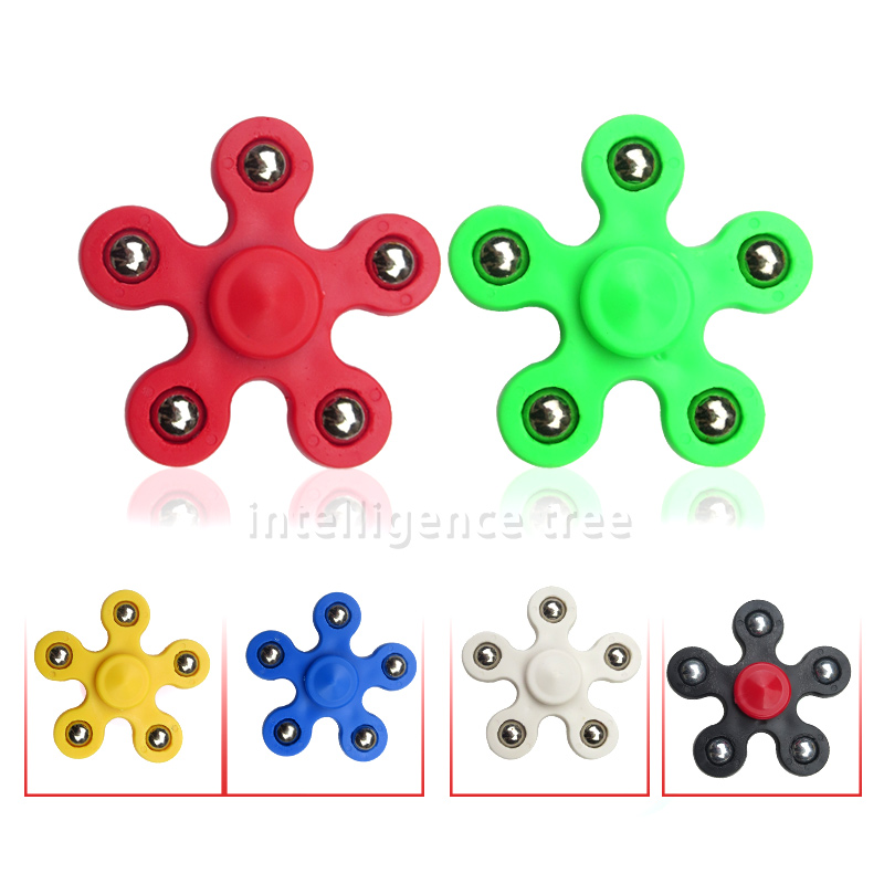 Multi Colors Fidget Spinner Finger ABS EDC Hand Spinner Tri Kids Autism ADHD Anxiety Stress Relief Focus Handspinner Toys