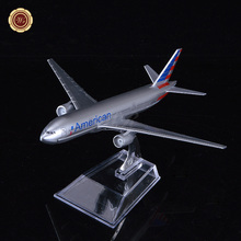 Wholesale American Airlines Boeing B777 Diecast Passenger Plane Model Metal Airplane Toy for Christmas gifts