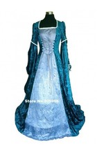 Middle Ages Deluxe ladies Medieval Renaissance Costume/Cosplay Dress/Victorian Day Dress/Stage Costume