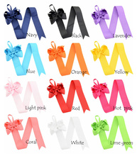 24 PCS/lot, Twist Ribbon Hair Bow Holder, Hair Bows Keeper, Hair Accessory Organizer For Birthday Gift(China)