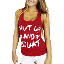 Buy SHUT UP SQUAT Print Women Workout Clothes Fitness Tank Top for $5.13 in AliExpress store