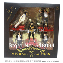 Free Shipping Michael Jackson PVC Action Figure Collection Model Toy 12cm New in Retail Box 5pcs/set OTFG055
