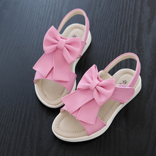 High quality PU girl sandals, children princess shoes, baby flowers sandals, 2017 new summer girls soft bottom skid sandals