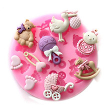 Baby party Silicone Cake Mold Chocolate Jelly Pudding Mold DIY Bakery Tools Silicone Mold cooking tools(China)