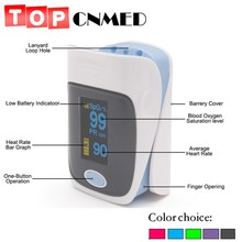 TOPCNMED 5 color Fingertip Pulse Oximeter SPO2 Pulse Rate Oxygen Monitor Sound Alarm Different Directions Display(China)