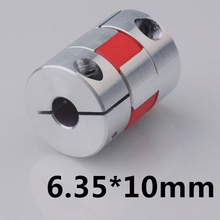 6.35 mm to 10 mm CNC Motor Jaw Shaft Coupler  Flexible Coupling OD 25x30mm  Coupling Spider Flexible 6.35 x 10 4pcs/lot