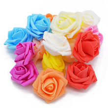 30Pcs/lot 5cm Foam Artificial Fake Rose Flower Head For Wedding Car Marriage room Decoration DIY Garland Decorative Floristry 8Z
