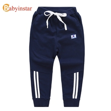 Babyinstar Casual Children's Pants 2017 New Kid's Stripe Trousers Baby Boy Clothes for 2-8 Yrs Infant Bottoms Cotton Boys Pants