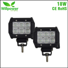 2 PACK FREE TAX Factory direct retail waterproof 10-30V DC flood Spot 18W offroad car led work light bar 12v