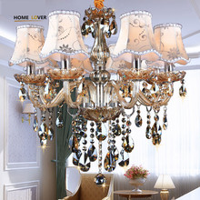 Modern Chandelier Lighting K9 lustres de cristal moderne lustre for home lighting Bedroom Kitchen Dining Crystal chandelier lamp(China)
