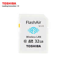TOSHIBA WI-FI Memory Card 32G WIFI FlashAir Class10 Flash Memory SD Card WIFI download photo video to phone For CANON NIKON etc(China)