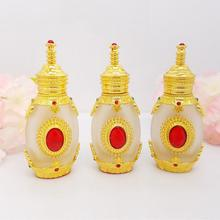 Free Shipping 12ml Empty Gold Glass Tattoo pigments Pack Bottle New Style Golden Top Grade Perfume Parfume Essential Oil Bottles