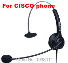 Call Center Telephone Headset Headphone with Mic for Cisco IP Phones 7940 7941 7942 7945 7960 7961 7962 7965 7970 7971 6921 etc(China)