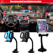 Universal Car Phone Air Vent Holder Stand Rotating 360 Degree Long Arm Phone Bracket Mount For GPS iPhone 6/6s 7/7 Plus