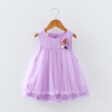 bibihou bridesmaid dree kids Dresses Infant flower girl dresses Baby Girls wedding Costume Party Princes Dress Children clothes