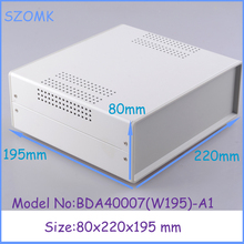 (1pcs)80x220x195mm small steel and iron enclosure case extruder aluminium case electronic steel iron box electrical metal box