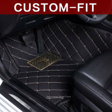 Customized car floor mats for Hyundai Rohens Genesis Coupe Tucson ix35 anti-slip car-styling case rugs carpet waterproof liners(China)