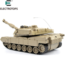 27Mhz Infrared RC Tank 1:18 US M1A2 Remote Control Fighting Battle Tank with Musical and Flashing for Children Gift