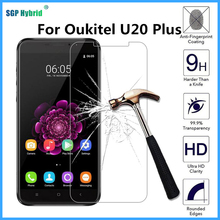 For Oukitel U20 Plus Tempered Glass 5.5 inch Not Full Cover Screen Protector 9H Safety Protective Film Glass Film U20Plus