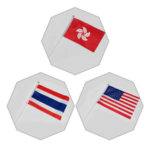 14X21cm quality 8 US / Thailand / Hong Kong / UK hand-held small flag hand movement parade table decoration