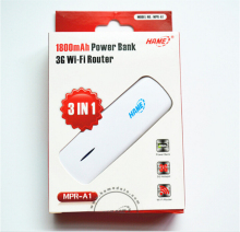 Original Hame 3 in 1 MPR-A1 3G Wireless Router + Mobile power supply ,MINI Wireless Router,3G WIFI
