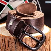 Pure head layer cowhide belt belt young men leisure belt buckle or lend retro needle joker belt leather This is a tough guy type(China)