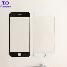 10pcs/lot Outer Glass For iphone 7 7 plus 5.5 inch LCD Touch Screen Front Glass Outer Lens Replacement black white