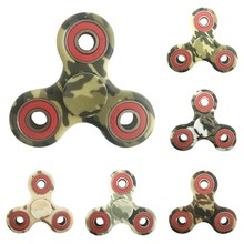 2017 Creative Army Green Camouflage Three Corner EDC Finger Spiner ABS Bearing For Autism ADHD Anxiety Stress Children Adult Toy