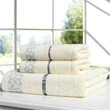 hot sale 3-Pieces Cotton Towel Set Hand Face Towels Bathroom bath Towel for adults Absorbent Drying Home Textile