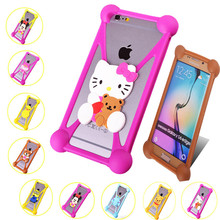 For Samsung Galaxy S7 A9 A3 A5 A7 S3 S4 S5 S6 Silicone Case Stitch Minnie Hello Kitty Minions Winnie Teddy Bear Garfield Cover(China)