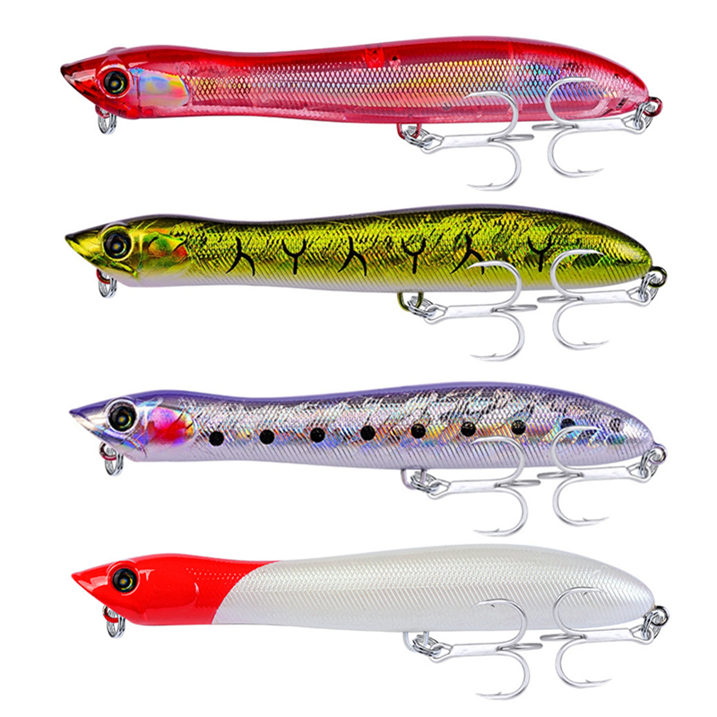 6pc Hard Plastic Fishing Lure 8.4cm 12g Popper Floating Lure Artificial Bait