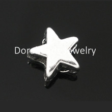 DoreenBeads 200 Silver Tone Star Charm Spacer Beads 6x6mm (B06054), yiwu(China)