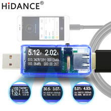 HiDANCE USB tester DC current meters ammeter digital voltmeter amperimetro voltage meters detector power bank charger wattmeter(China)