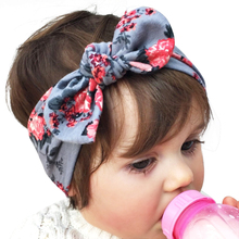 DIY Unisex headband Bow Knot Floral Headband 68*5 cm Hairband Rabbit Ear Arrow Print Head Wrap Hair Band Accessories KT053(China)