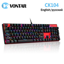 Original Motospeed CK104 Metal 104 Keys RGB Switch Gaming Wired Mechanical Keyboard LED Backlit Anti-Ghosting for Gamer Computer