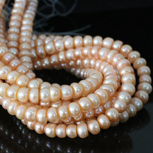 Hot sale freshwater orange natural pearl abacus beads 9-10mm fit nacklace bracelet weddings beauty jewelry making 15inch B1385(China)