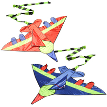 Kids Flying Kite Novelty Cartoon Design Airplane Shape Kites with Long Tails Outdoor Fun Sports Kite(China)