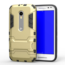 Armor Case For Motorola Moto G3 G 3rd Gen XT1541 XT1543 Heavy Duty Hybrid Hard Soft Rugged Silicone Rubber Phone Cover Coque <((China)