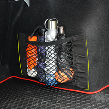 Car Boot Cargo Net Magic Sticker Luggage Mesh Oganizer Bag Cargo Net for Honda Accord Civic CR-V Crosstour Fit Odyssey Pilot