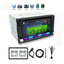 "In Dash Car DVD Player Double 2 DIN 6.2"" for NISSAN TIIDA QASHQAI SUNNY 350Z PC CD Radio Stereo Video In Car Multimedia Player"