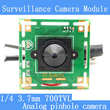 Color HD CMOS 1/4 700TVL Mini CCTV pinhole Camera Module 3.7mm Lens+PAL or NTSC Optional surveillance cameras(China)