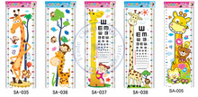 5 option Kids cartoon giraffe wall stickers Growth Height chart ruler Measure grow up with me Decor Decoration CN post whcn(China)