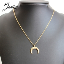 Buy JOOLIM Jewelry Wholesale/2017 Simple Gold-Color Crescent Moon Pendant Necklace Fashion Jewelry Design Jewelry for $2.03 in AliExpress store
