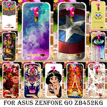 Silicone plastic Cases For Asus Zenfone GO 2nd Gen ZB452KG ASUS_X014D ZB450KL 4.5 inch Cases Painted Back Cover shell skin bags