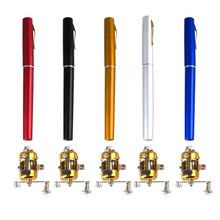 Mini Telescopic Pocket Fishing Rod Portable Aluminum Alloy Fishing Rod Pole + Reel(China)